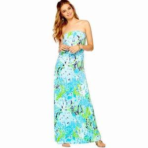 Lilly Pulitzer Marlisa Maxi Dress Spa Blue